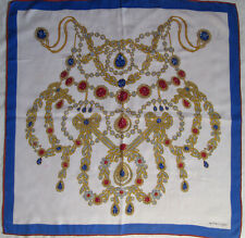 -Superbe Foulard MUST DE CARTIER 100% soie (T)BEG  vintage Scarf  85 x 87 cm