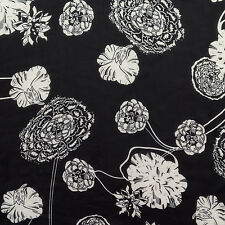 """5 y Lot Carnation Toss Black Chiffon with gray accents 58""""w Polyester FABRIC"""