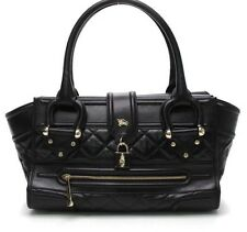 $1,950 AUTH BURBERRY PRORSUM MANOR LARGE QUILTED PURSE BAG HANDBAG TOTE