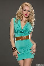 Party Club Formal Wear Elegant Turquoise Mini Dress UK size 8-10