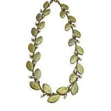 Myrtle Leaf & Pearl Necklace by Michael Michaud for Silver Seasons - 8896BZWP