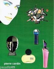PUBLICITE ADVERTISING 116  1994  Les parfums Pierre Cardin  enigme choc bleu mar