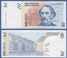 """Argentina 2 Pesos P 352 UNC ND (2002) Serie """"L"""" 2012 Low Shipping! Combine FREE!"""