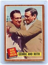 "1962 TOPPS #140 BABE RUTH SPECIAL ""LOU GEHRIG AND BABE RUTH"" - NEW YORK YANKEES"