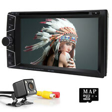 "2Din 6.2"" In Dash Car GPS DVD Player Bluetooth Radio MP3 + Backup Camera"