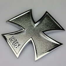 Auto Aufkleber in 3D Optik Eisernes Kreuz 1813 aus Metal-Iron Cross Malteser