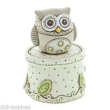 Baby Collection Resin  Owl Trinket Box CG398