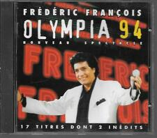 CD ALBUM LIVE 17 TITRES--FREDERIC FRANCOIS--LIVE OLYMPIA 1994