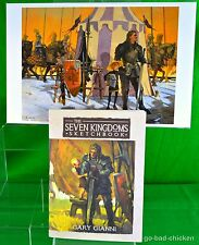 A Knight Of The Seven Kingdoms Sketchbook & Print George RR Martin Gianni SIGNED