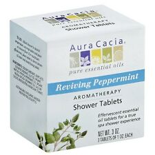 Aura Cacia Aromatherapy Shower Tablets, Reviving Peppermint 3 ea (Pack of 8)