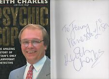 SIGNED KEITH CHARLES PSYCHIC COP CLAIRVOYANT DETECTIVE FIRST EDITION HB DJ 1995