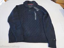Men's Tommy Hilfiger long sleeve sweater shirt XL 7841585 Midnight Navy 403 NEW