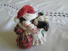 """Enesco ""I Saw Moo-Mmy Kissing Santa Clause"" Santa With Mom 545864 *Nib*1999"