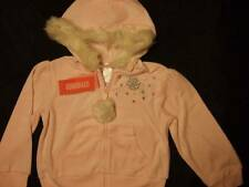 NWT Gymboree PRINCESS SNOW DROP pink velour hoodie faux fur trim ~ girls 5 5T