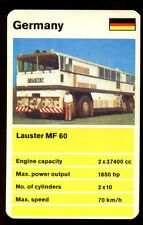 Lauster MF 60 - Truck H.P. Giants Top Trumps Card #K