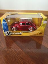 Jada Vdubs 1959 Volkswagen Beetle Red Surf Board 1/24 2006 New