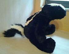"The Bear Mill 17"" Skunk Plush Black and White wearing a Wizard Robe"