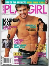PLAYGIRL AUGUST 2007! JUSTIN MAGNUM! DARREN HAYES! PORN STAR ZAK SMITH! GAY INT!