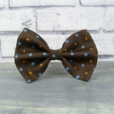 Oversized Bow Tie - Brown Patterned Real Silk