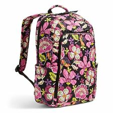 NWT Vera Bradley cotton Laptop Backpack in Pirouette Pink