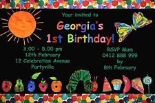 Printable Invite Personalised THE VERY HUNGRY CATERPILLAR  Party Invitation JPEG