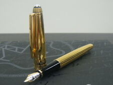 MONTBLANC SOLITAIRE VERMEIL PINSTRIPE FOUNTAIN NEW IN BOX MED PT  POINT  144VP