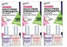 Lot of 3 Nutra Nail Bullet-Proof Strength Formula #12668 with Top Coat - 9 Total
