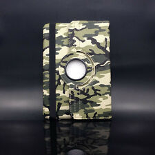 Camo Rotate PU Leather Magnetic Case Smart Cover Stand For iPad 2 3 4 Dark Green