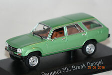 Peugeot 504 Break Dangel grün metallic 1980 1:43 Norev neu + OVP 475430