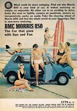1965 AUSTRALIAN MORRIS MINI 850 A3 POSTER AD SALES BROCHURE ADVERT ADVERTISEMENT