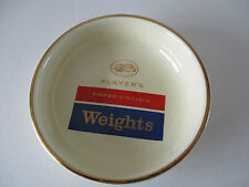 PLAYER'S WEIGHTS CIGARETTES ADVERTISING ASHTRAY