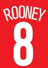 Rooney 8 Manchester United 2004-2005 Home champions league Football Nameset