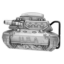 METAL USA Tank Removable Lighter Belt Buckle Military