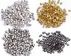 2/1.5mm Silver Plated/Golden/Dark Silver/Black Tube Crimp End Beads 500/1000pcs