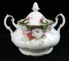 Royal Albert CELEBRATION Sugar Bowl with Lid English Bone China APPEARS UNUSED