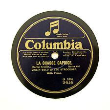 """LEO STROCKOFF (Violin Solo) """"La Chasse Caprice"""" (EE+) COLUMBIA 3414 [78 RPM]"""