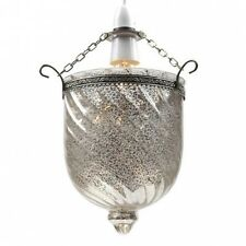 Victorian Antique Style Speckled  Grey  Glass Lantern Pendant Hall Light  BNWT