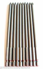 """10 GOLIATH INDUSTRIAL 6"""" SCREW BITS #2 PHILLIPS MAGNETIC TIP SB6P2 DRIVER DRILL"""