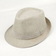 Summer Beach Hat Sun Jazz Panama Gangster Cap Men Women Unisex Trilby Fedora