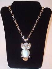 NEW NWOT Punch Owl Pendant Necklace from Little Black Bag, Fashion Jewelry!