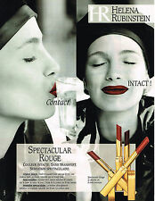 PUBLICITE ADVERTISING 025  1997  HELENA RUBINSTEIN  collection rouges à lèvres