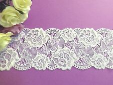 White Embroidered Lace Trim 8 cm Bridal Evening TuTu # 6WE557B 1 metre