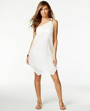 Michael Kors White Gauze One Shoulder Layered Swimsuit Cover Up Dress XS NWT $74