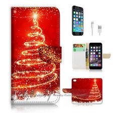 iPhone 6 6S Plus (5.5') Flip Wallet Case Cover P2493 Christmas Tree