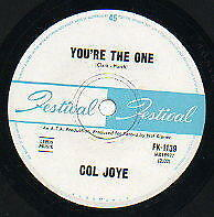 """COL JOYE   Rare 1965 Aust Only 7"""" OOP Festival Teen Pop Single """"You're The One"""""""