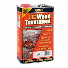 EVERBUILD LUMBERJACK WOOD TREATMENT Triple Action Preserver Dry& Wet Rot - 5L