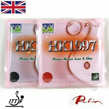 2 x Palio HK1997 Biotech Table Tennis Rubbers with sponge ITTF approved Pips in