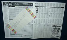 7 25 2015 PHOTOCOPY of TED'S SCORECARD CUBS COLE HAMELS PHILLIES NO HITTER NO NO