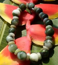 Himalayan Jadeite A Jade Natural Stretchy Bracelet2.5-3.5+in/63-88+mm wrist#S104