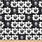Kanvas Studios Green Farms Sheep to Sheep Black Cotton Fabric Fat Quarter